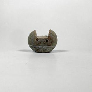 Katzenkopf aus Stein