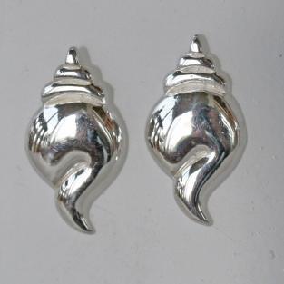 Ohrstecker aus Silber als Schnecke