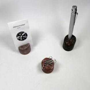 3 teiliges Schreibtisch-Set aus Stein