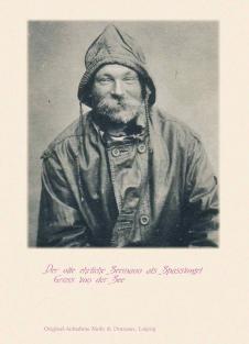 Postkarte Alter ehrlicher Seemann