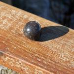 Möbelknauf aus einer polierten Feuerstein