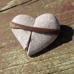Schönes Steinherz aus einem speziellen Rügener Kiesel