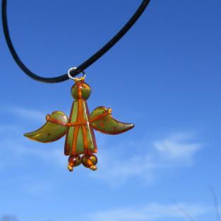 Engel Schutzengel aus kognacfarbenen Bernsteinen