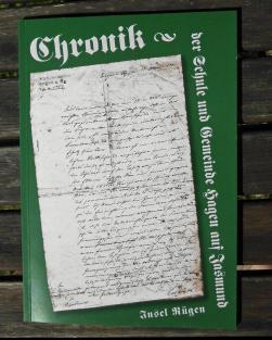 Chronik der Schule und Gemeinde Hagen auf Jasmund / Insel Rügen