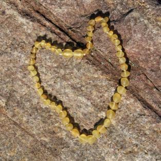 Zahnungskette / Babykette ,unegale Perlen,  unpoliert
