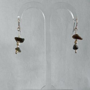 Ohrhänger Feuerstein mit Silber