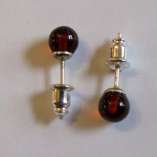 Ohrstecker mit Perlen aus oder sonnengelben  Bernstein