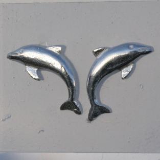 Ohrstecker aus Silber als Delfin / Delphin