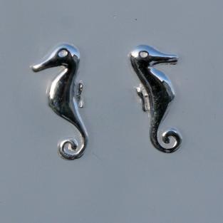 Ohrstecker aus Silber als Seepferdchen