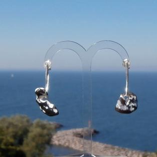 Ohrhänger/stecker mit poliertem Hühnergott