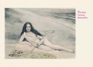 Postkarte Die schöne Fischerin