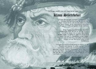 Postkarte Klaus Störtebeker
