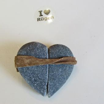 ZAUBERhaftes Steinherz aus einem speziellen Rügener Kiesel