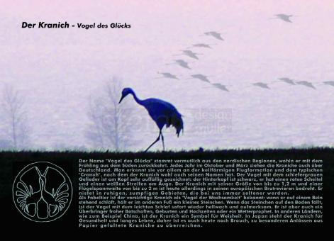 Postkarte Kranich